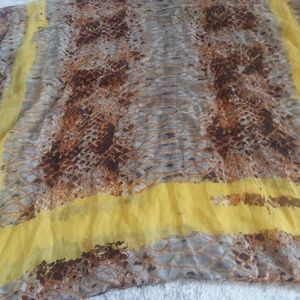 Accessories - Yellow and Brown Snakeskin Infinity Scarf